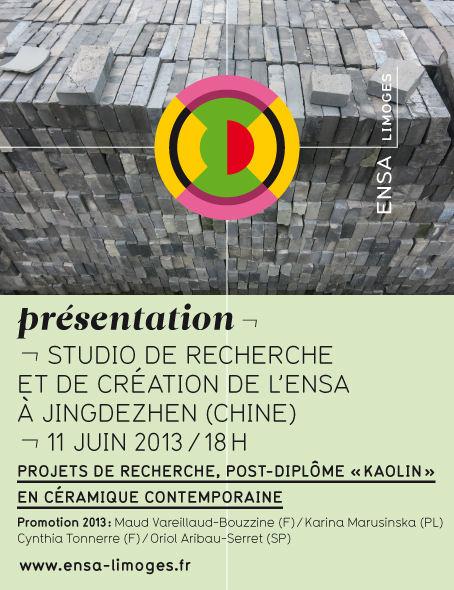 Affiche : Exposition du post-diplôme Kaolin à Jingdezhen