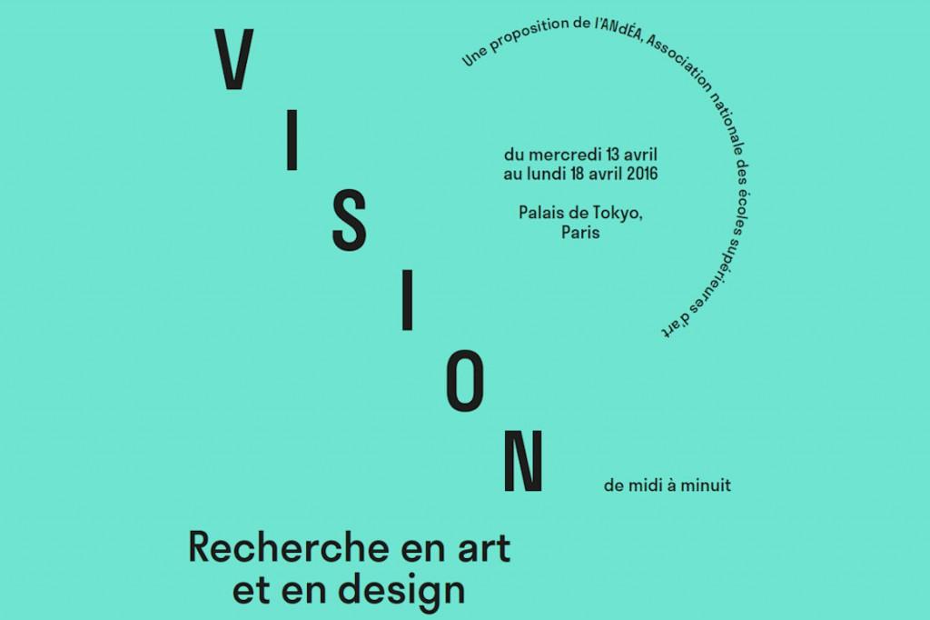 """Image : présentation de l'exposition """"vision"""" - Recherche en art et en design"""