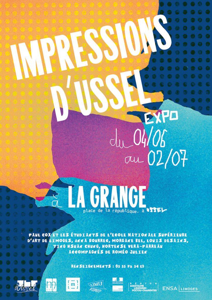 affiche de l'exposition IMPRESSIONS D'USSEL