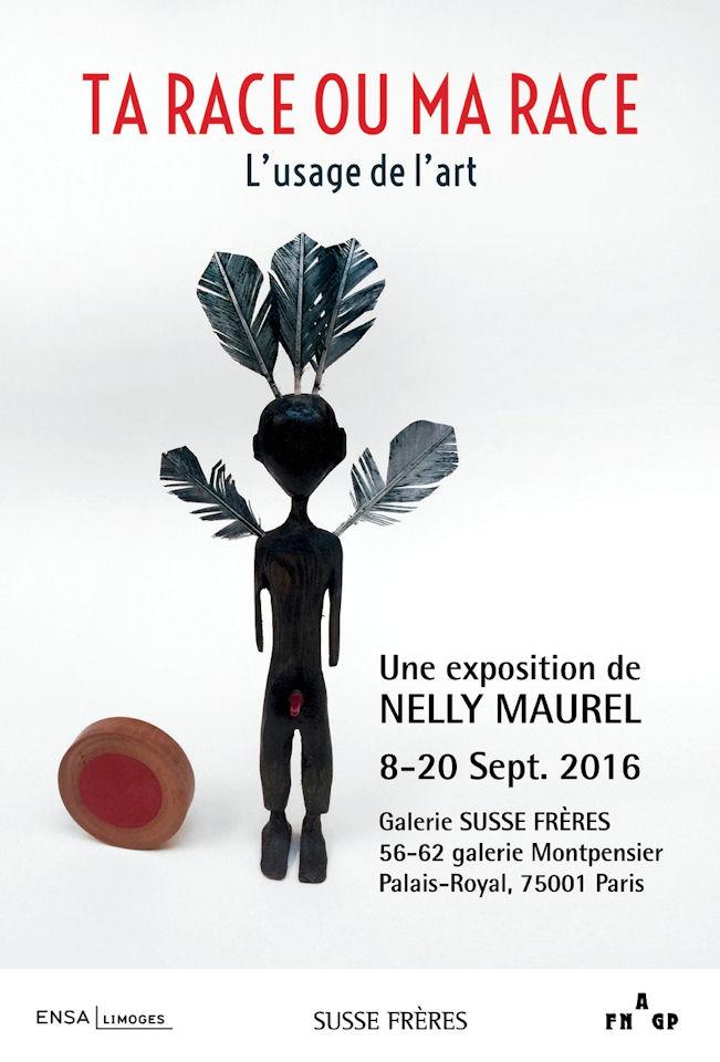 """Affiche de l'exposition """"ta race ou ma race"""" de Nelly Maurel"""
