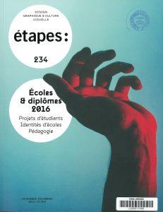 Page de couverture de la revue Etapes :