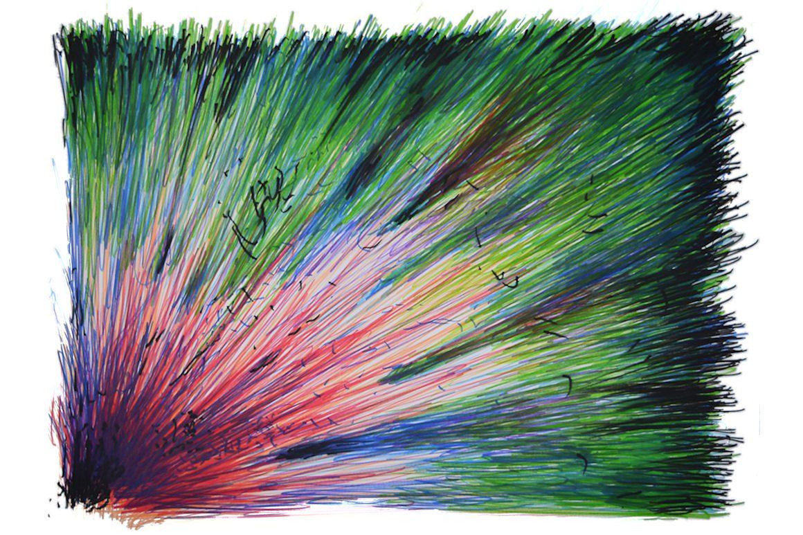 Crédits visuels : Jim Fauvet, BRAAAOOUUUUMMMMMMM, 2017, feutres sur papier, 50 cm x 65 cm.
