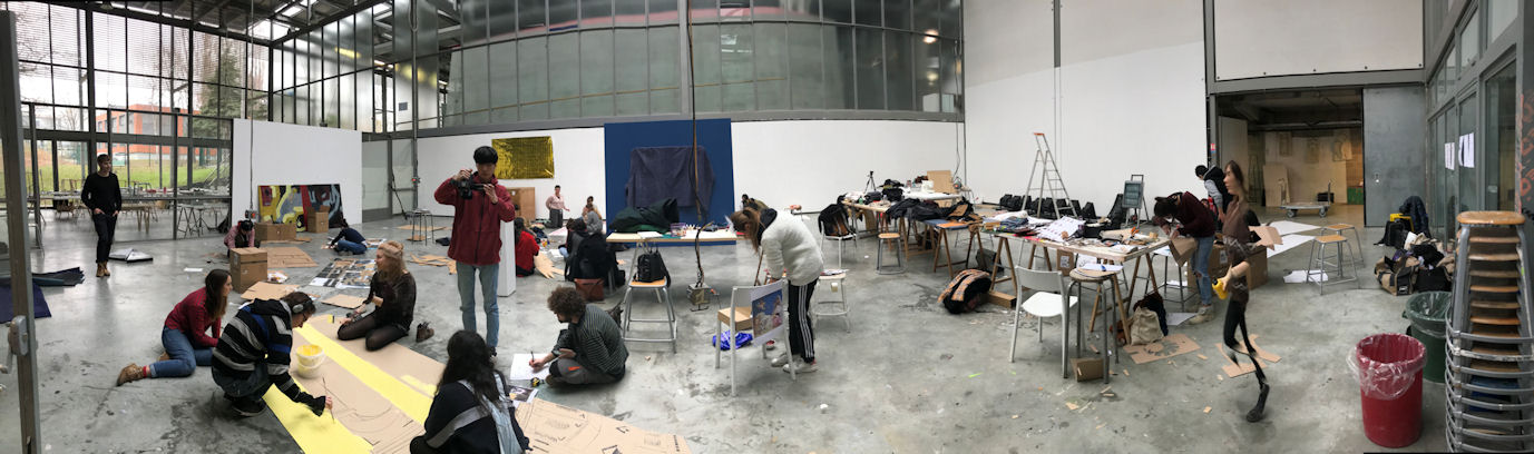 """Photo du Workshop vidéo """"tableaux vivants"""""""