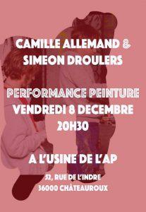 performance peinture de Camille Allemand et Siméon Droulers