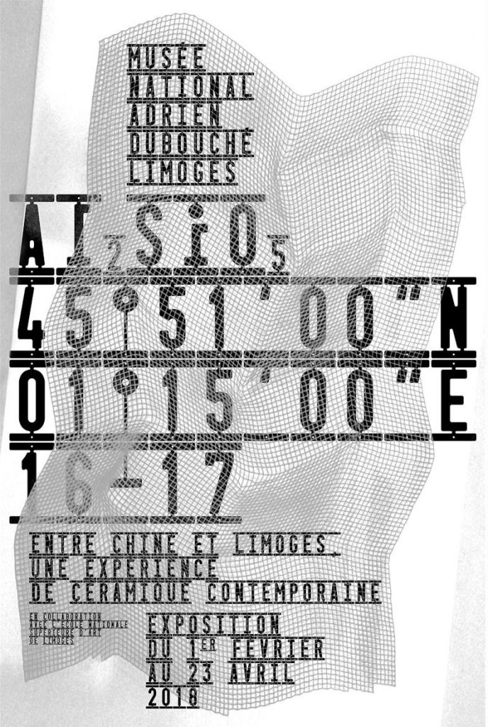 """Visuel de l'exposition : Al2SiO5 / 45°51'00"""" N-1°15'00""""E / 16-17"""