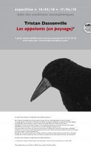 Invitation exposition Tristan Dassonville : Les appelants (un paysage)