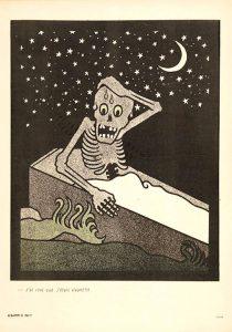 Henri Gustave Jossot (1866-1951), illustration « j'ai rêvé que j'étais vivant! » in L'assiette au beurre, n°156, mars 1904.