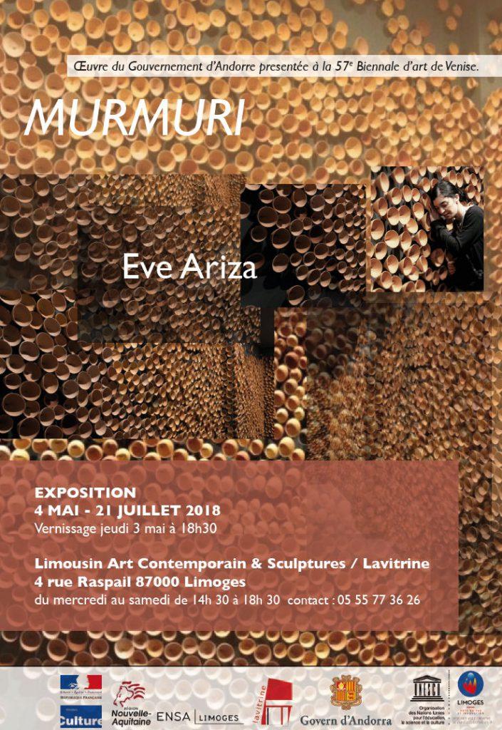 Visuel de l'exposition MURMURI d'Eve ArizaVisuel de l'exposition MURMURI d'Eve Ariza