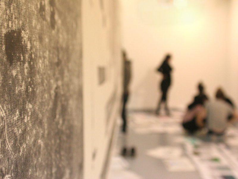 Photo du workshop pour l'exposition Les Luddites