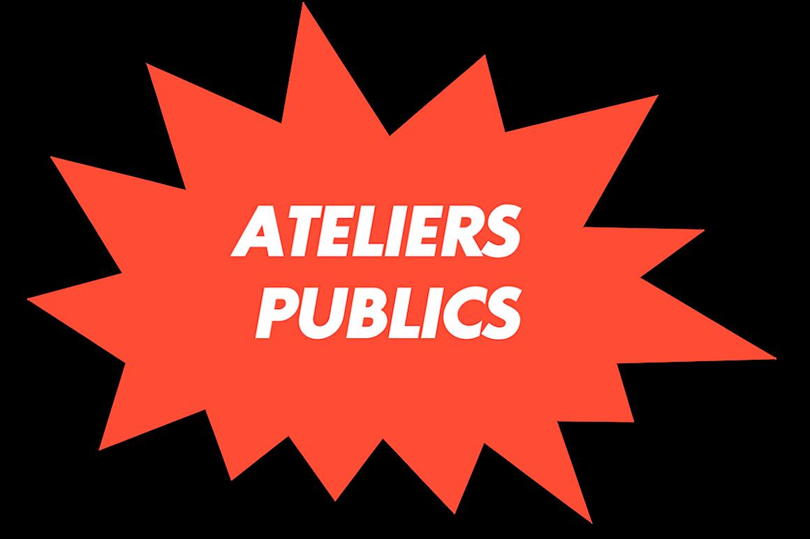 Visuel pour la page de présentation des ateliers publics et stages artistiques