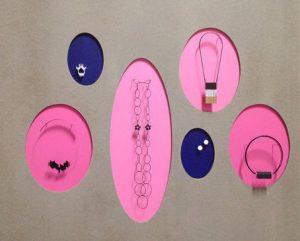 POP atelier bijou : Fanny Cavan, Audrey Fontenoy, Nadja Milivinti, Violène Dodeux, Elvire Blanc Briand, Camila Rigaud,2016-2018. Impression 3D, zircone, matériaux divers. Prototypes de bijoux pour Edition céramique réalisés avec le support de 3D Ceram.