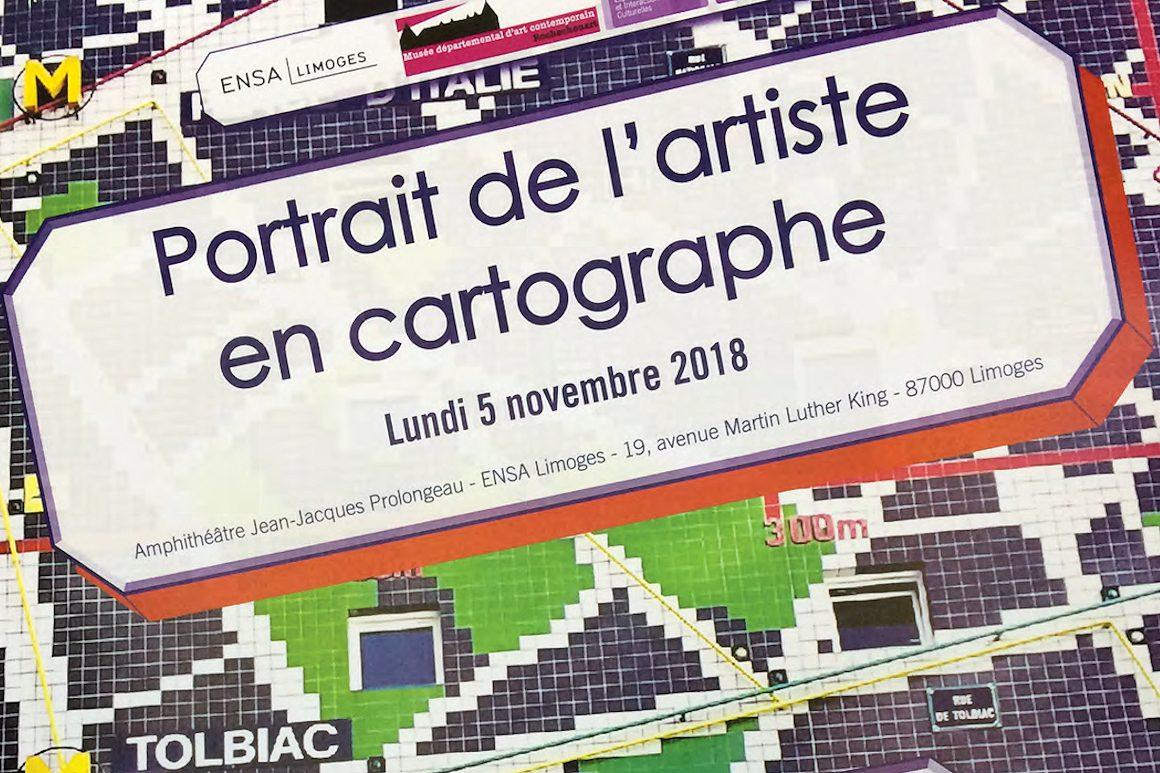 Image : portrait de l'artiste en cartographe (exposition)
