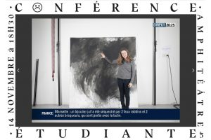Visuel conférence de Julien Salban Créma, étudiant en année 5 art