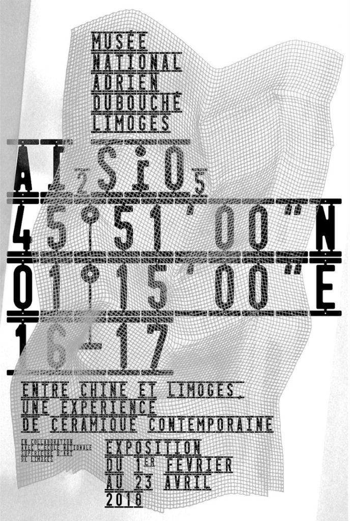 Affiche de l'exposition Al2SiO5 / 45°51'00″N-01°15'00″E / 16-17