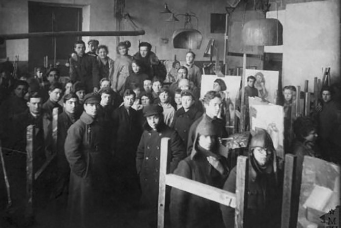 Photo de l'atelier Vhutemas en 1923