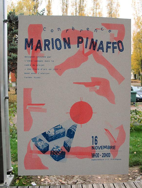 Affiche : conférence de Marion Pinaffo