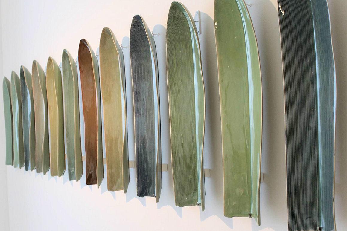 Photo : installation œuvres de Eunbum LEE au musée des arts décoratifs
