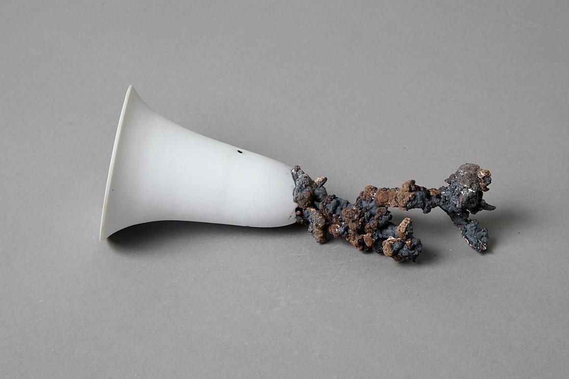 Photo : une réalisation faite dans le cadre de l'ARC porcelaine et process