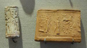 Photo : Sceau Cylindre, Mésopotamie, 3000 av JC