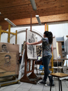 photo du studio peinture, National Academy of arts, Sofia, Bulgarie