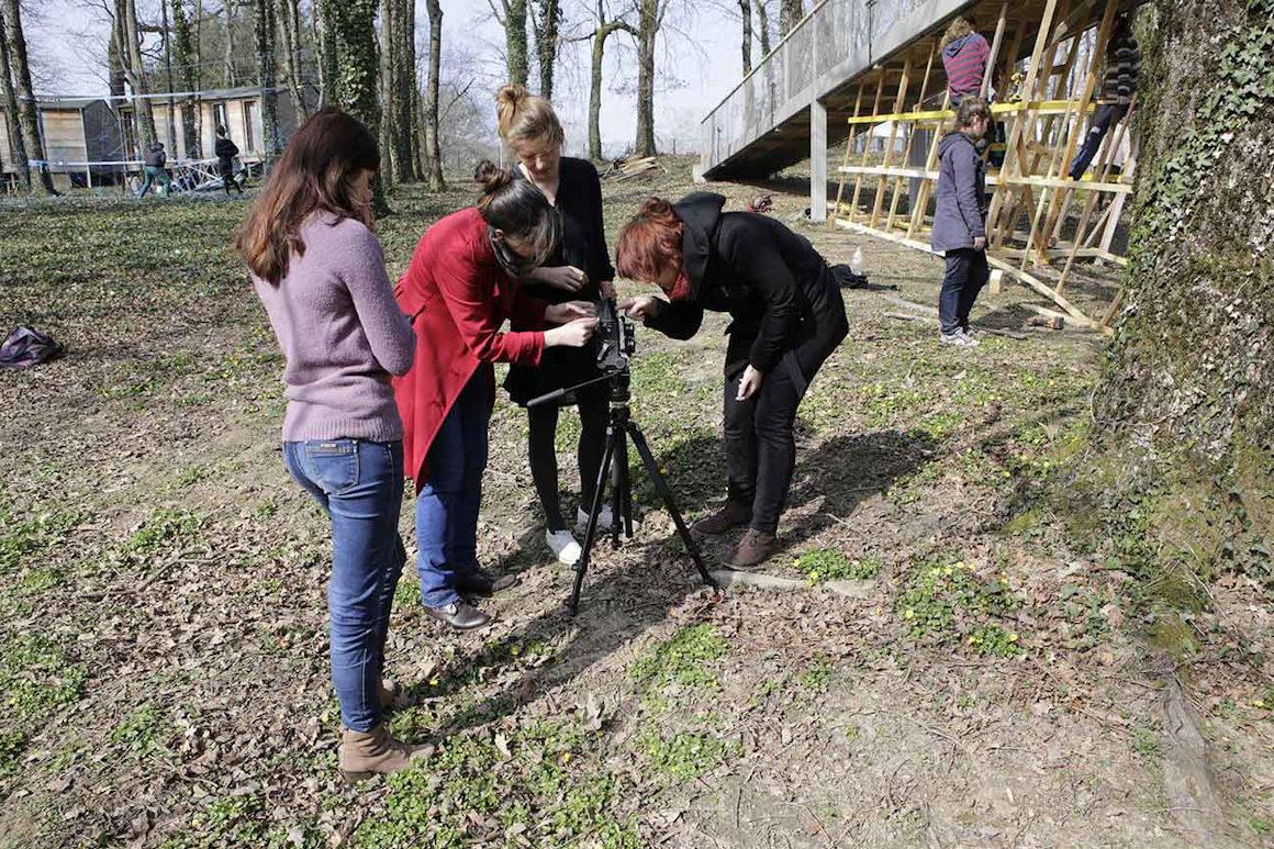 Photo de Marie-Pierre Saunier, workshop étudiants dans le cadre de Charivari
