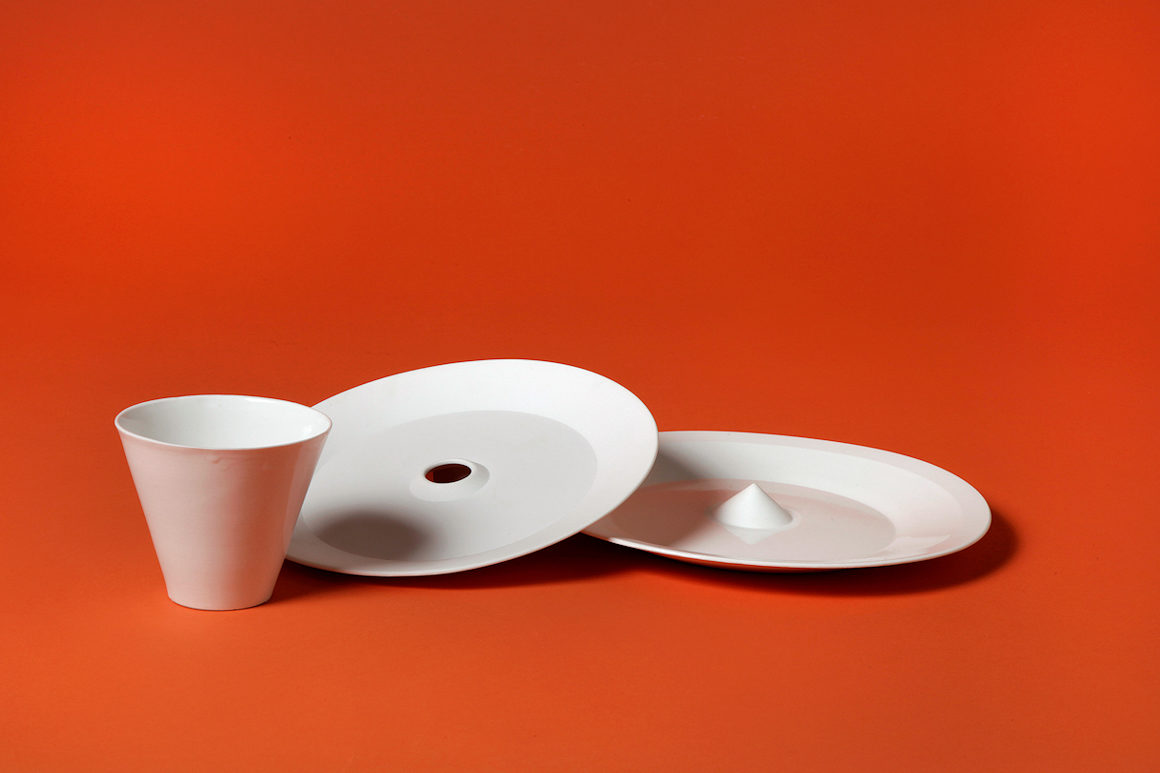 Photo : céramiques réalisées dans le cadre de l'ARC Porcelaine & process