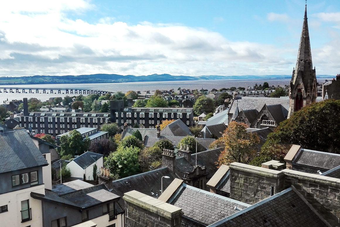 Photo : Vue de la Ville de Dundee depuis l'école de Dundee