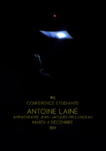 Image : affiche de la conférence de Antoine Lainé