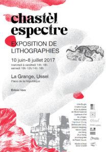 """Affiche de l'exposition """"chastèl espectre"""""""