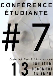 Image : affiche de la conférence de Gabriel Retif