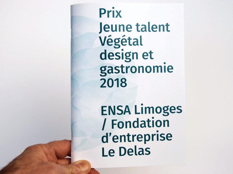 """Page de couverture de la publication """"Prix jeune talent Végétal design et gastronomie 2018"""""""