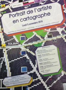 """Image : illustration """"Portrait de l'artiste en cartographe"""""""