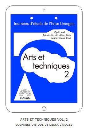 Image : page de couverture de l'édition numérique, journées d'étude de l'ENSA Limoges, Arts et techniques 2