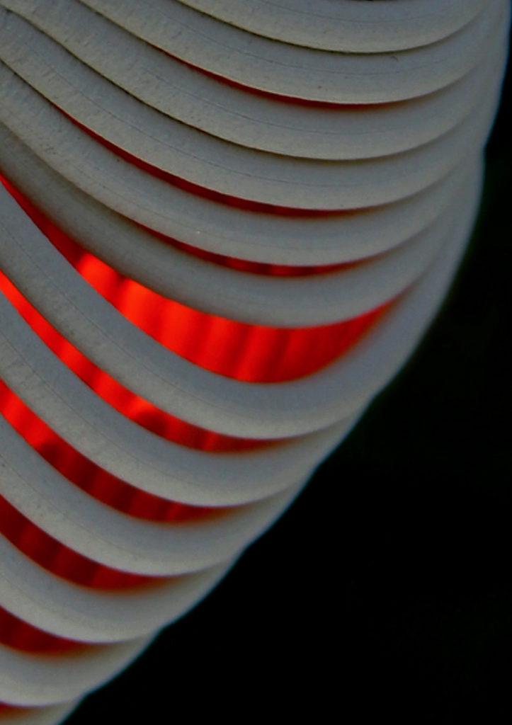 Photo : réalisation de Laure Giraudaud Impression 3D, porcelaine, grès