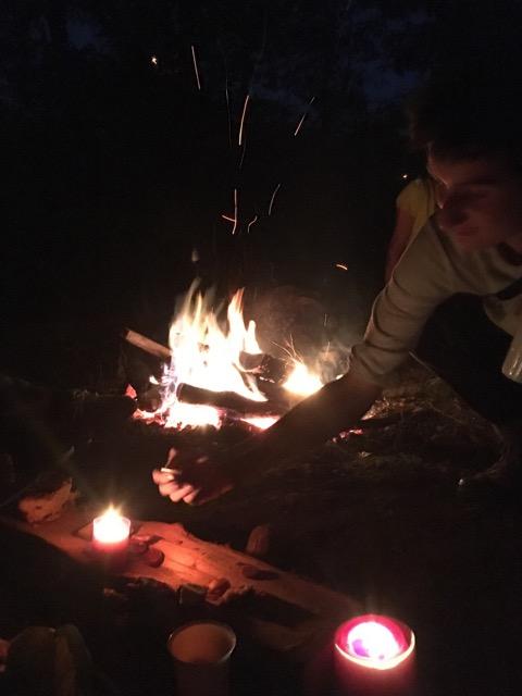 Photo : feu de bois
