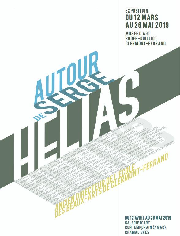 """Affiche de l'exposition """"autour de Serge Helias"""""""