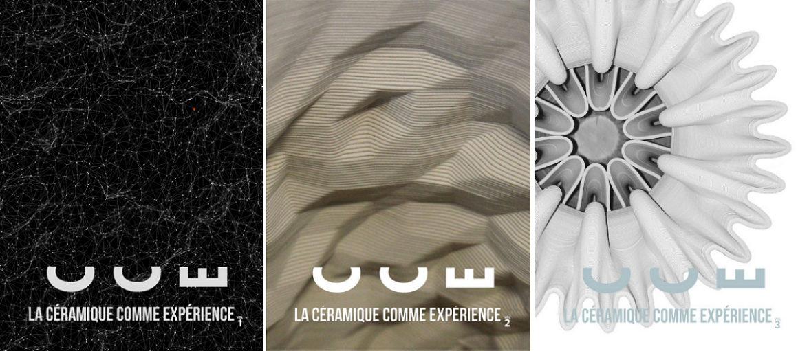 Image : les 3 éditions numériques La Céramique comme expérience
