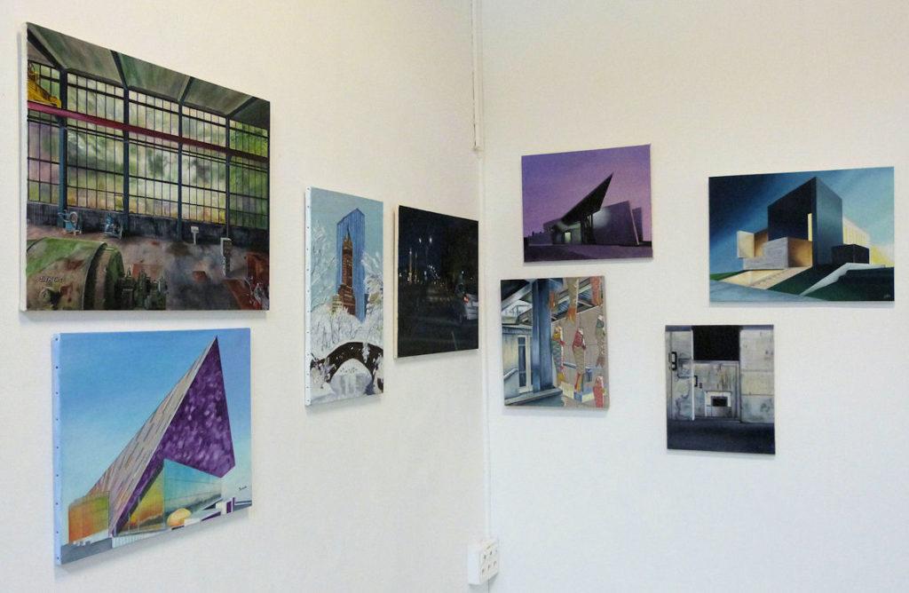 Photo : réalisations au sein de l'Atelier peinture à l'huile