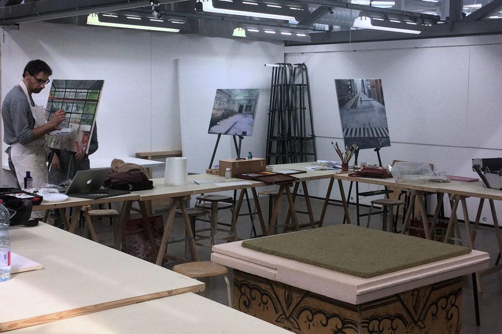 photo : atelier peinture à l'huile - initiation