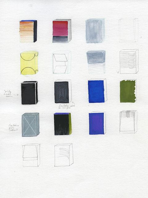 Photo : peinture préparatoire de Sarah Duby