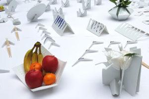 Photo : réalisations dans le cadre du workshop Expérimentation de la porcelaine