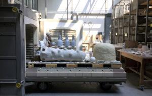 Photo : sorite de fours pour l'exposition Céramique ++