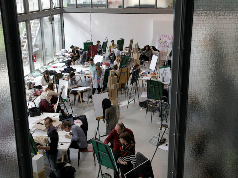Photo : Ensa, cours de dessin