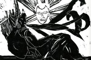 Gravure de Laure bréaud, Papa et Rangi