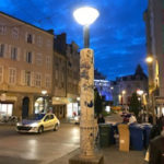 Photo : candelabre, installation permanente à Limoges