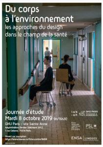 """Affiche : Journée d'étude """"Les approches du design dans le champ de la santé"""""""