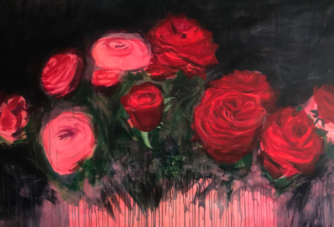 Photo : Peinture Coline Gaulot - This is a love story - bouquet floral
