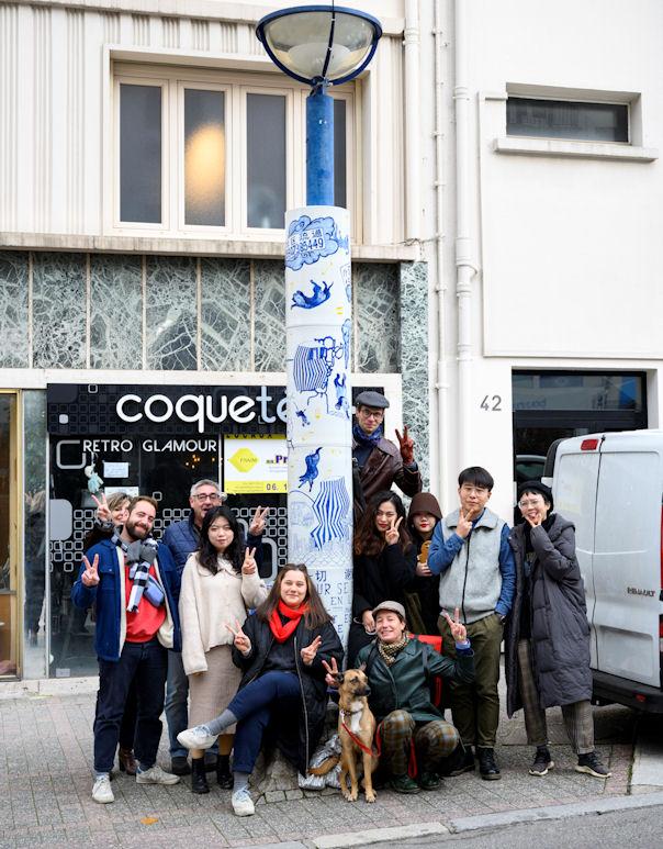 Photo : les étudiants du JCI et le post-diplôme Kaolin de l'Ensa Limoges