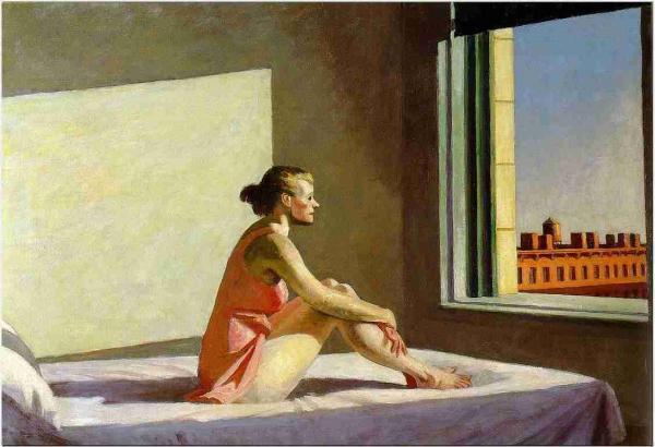 Tableau : Edward Hopper, Soleil du matin, 1952, huile sur toile, 71 x 102 cm