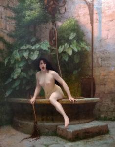 Image : Jean-Léon Gérôme, La Vérité sortant du puits, 1896, huile sur toile, 91×72 cm